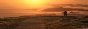lever du soleil au mont st Michel de Brapsart
