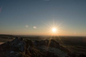 couché de soleil aux Monts d'Arrée
